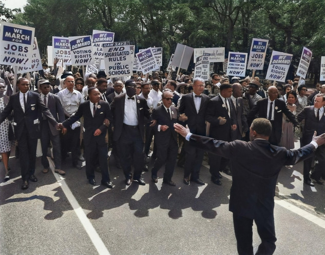 MLK in the March on Washington for Jobs and Freedom, in Washington, D.C. on Wednesday, August 28, 1963