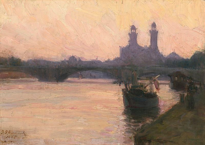 "The Seine,"" c. 1902, Henry Ossawa Tanner"