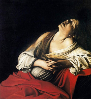Mary Magdalene in Ecstasy by Caravaggio, 1606