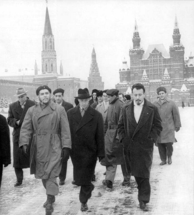Ernesto Che Guevara in Moscow, Russia, 1965