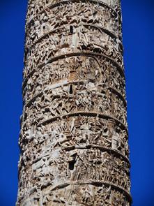 Emperor Marcus Aurelius' historiated column 180-196 AD - Piazza Colonna in Rome