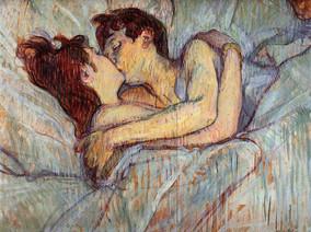 Au lit le baiser In Bed The Kiss, by Henri de Toulouse-Lautrec, 1892
