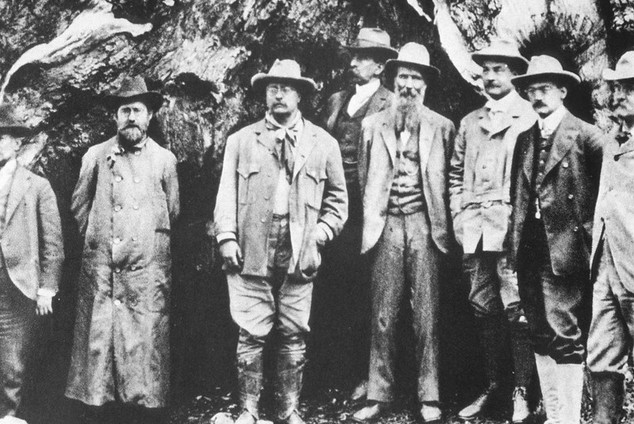 Teddy Roosevelt John Muir, America's first great conservationists