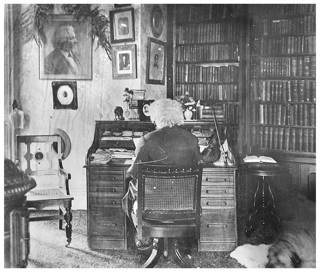 Frederick Douglass in his study at Cedar Hill, 1885 ca.
