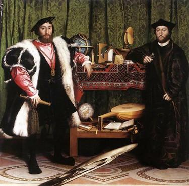 The Ambassadors, Hans Holbein, 1533
