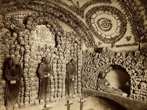 Inside Rome's Capuchin Crypt, late 19th century