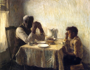 """The Thankful Poor,"""" 1894 Henry Ossawa Tanner"""