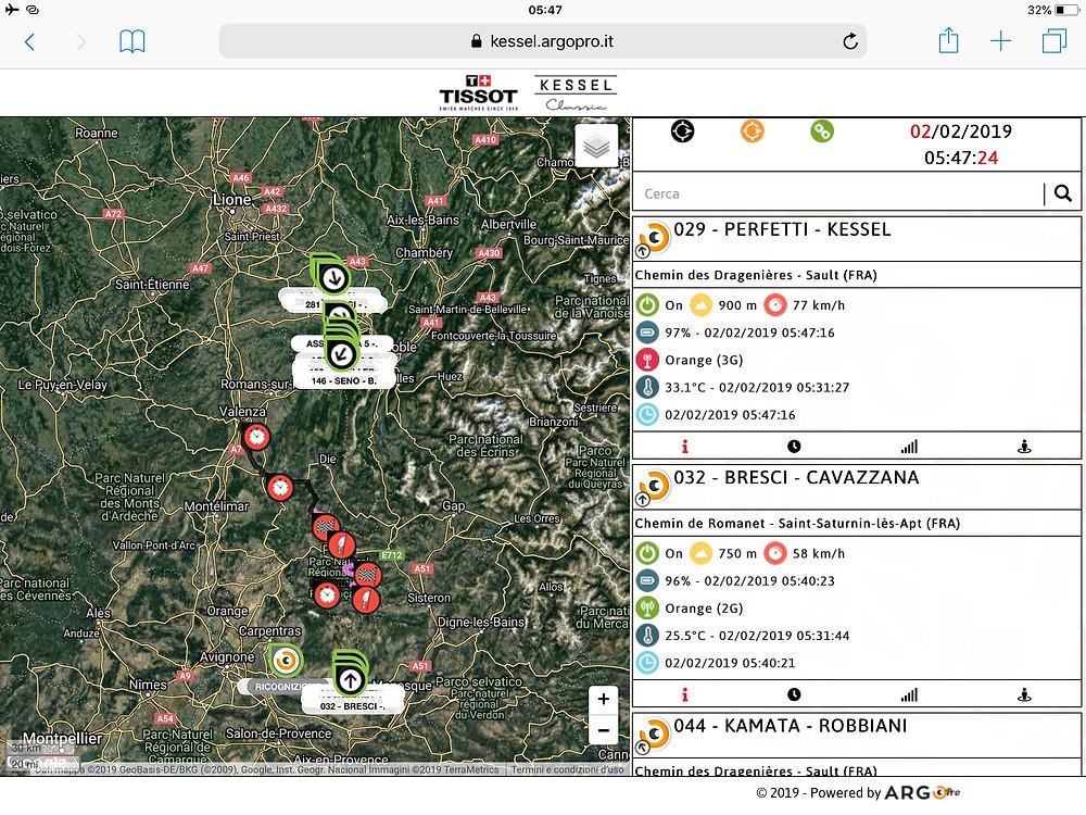 piattaforma ArgoPro rally storico di Monte-Carlo