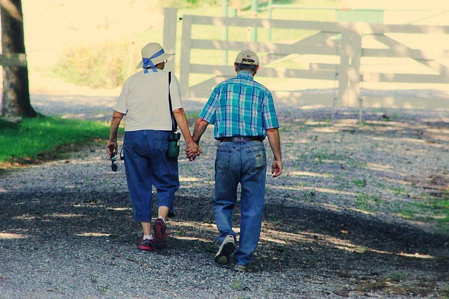 Alzheimer anziani passeggiano sa soli