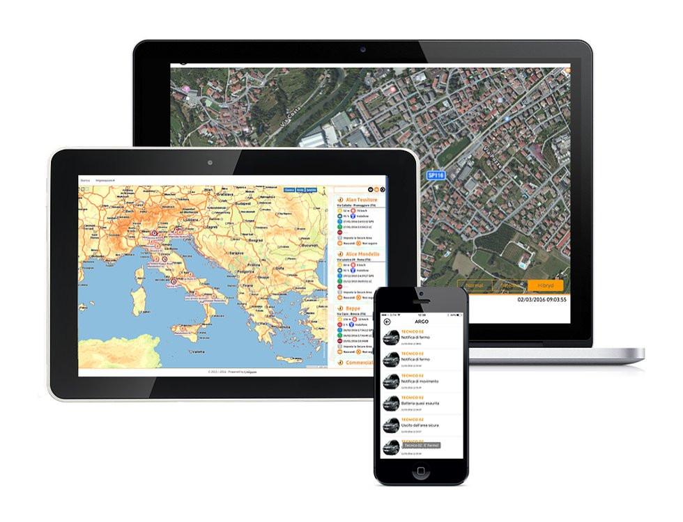 localizzazione e visione su pc, tablet e smartphone