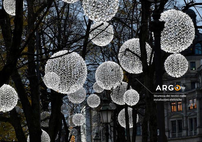 ArgoPro illumina il Natale in città. Tecnologia e sicurezza
