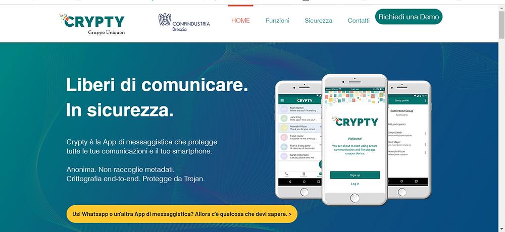Crypty, l'App Italiana di messaggistica sicura