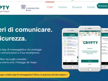 Uniquon lancia Crypty, l'App italiana di messaggistica sicura.