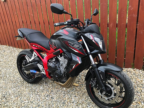 HONDA CB650F  - FITTED EXTRAS + LOW MILES - BIKE IS NOW SOLD