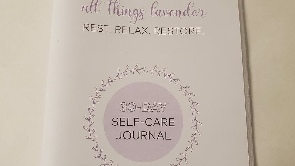 30 day Selfcare journal
