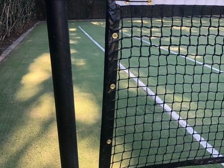 Before & after photo's from our recent job in Wahroonga.. New tennis net & winder mechanism