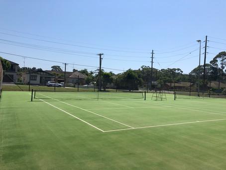 Thanks to Gemma & the GIlmore Park Tennis Club