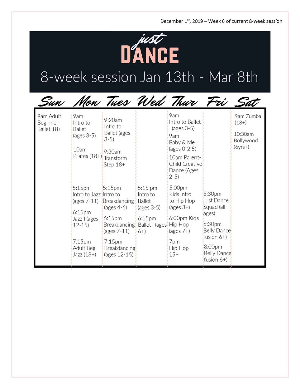 Just Dance Newsletter - Dec 2nd, 2019_Pa