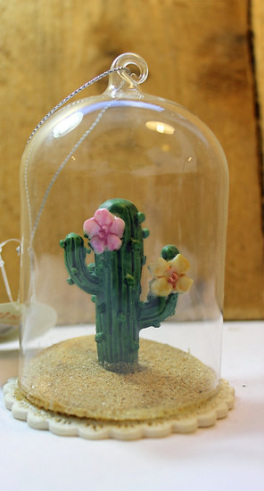 Cactus in Glass Dome