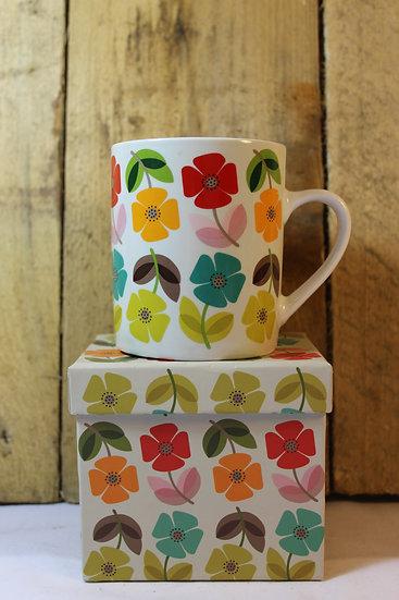 Floral China Mug in Box