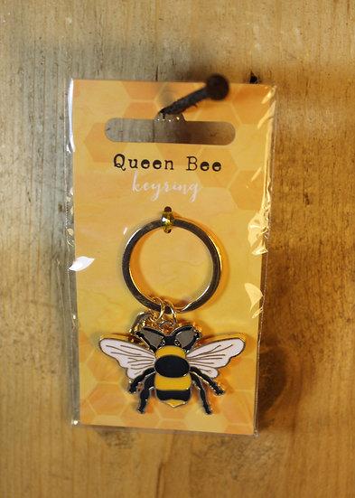 Queen Bee Enamel Keyring