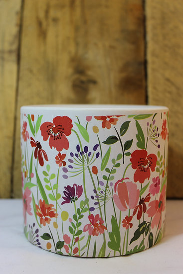 Floral Print Planter