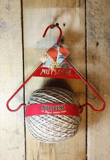Nutscene Garden Twine with Metal Hanger- Red