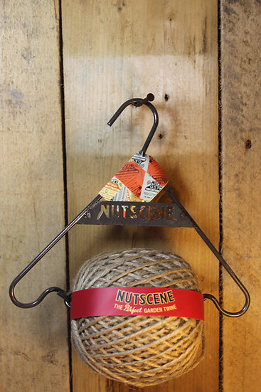 Nutscne Garden Twine with Metal Hanger-Black