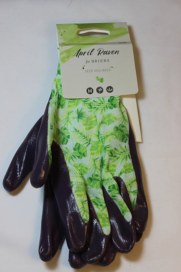 Briers Seed and Weed Gardening Gloves- Purple and Green