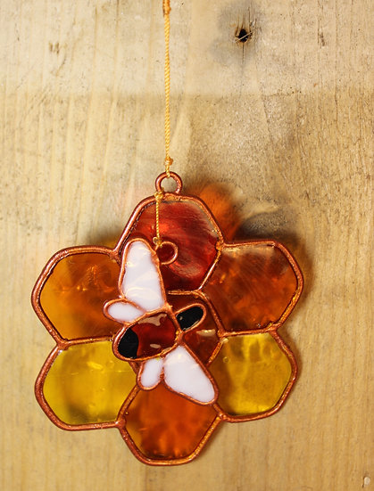Honeycomb and Bee Sun Catcher