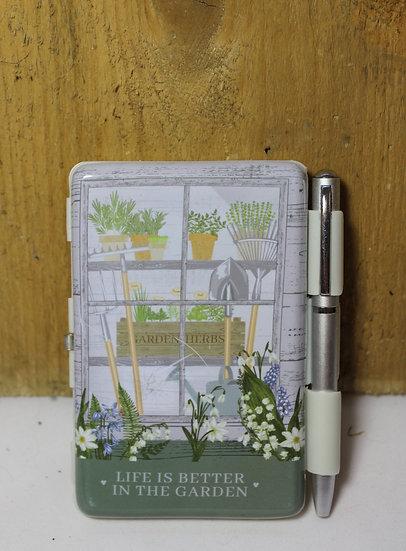 Pocket Garden Notebook and Pen