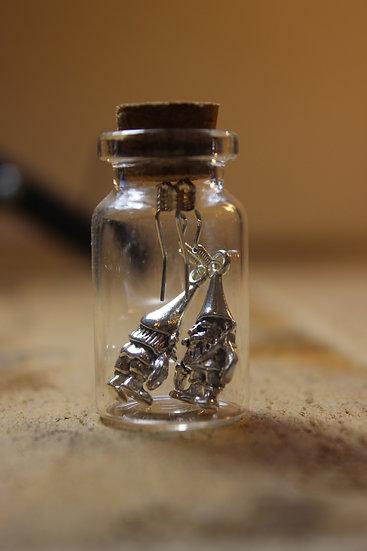 Earrings in a Bottle- Gnomes