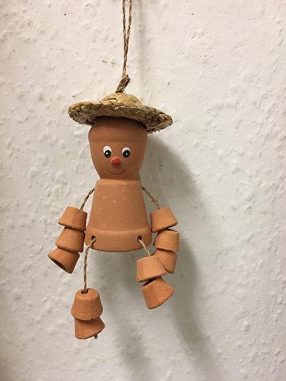 Small Terracotta Pot Man