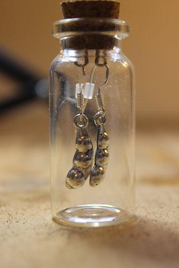 Earrings in a Bottle- Peas In A Pod