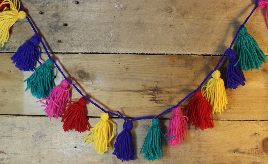 Colourful Tassel Hanging Garland