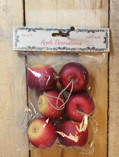 Set of 6 Decorative Hanging Apples
