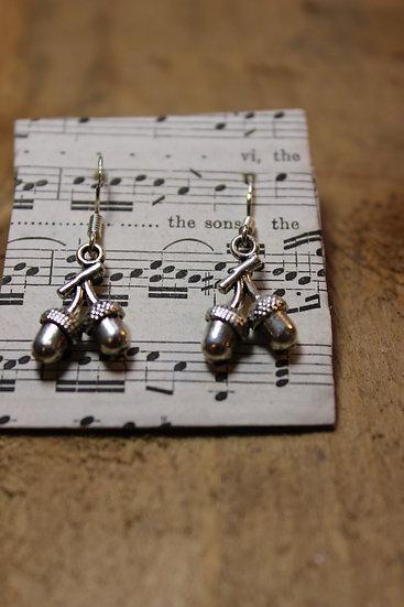 Double Acorn Earrings