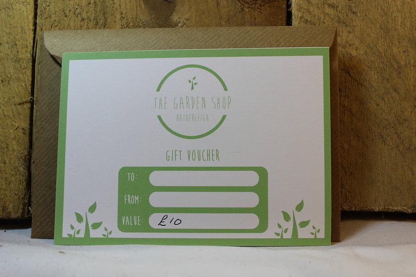 Garden Shop Gift Vouchers