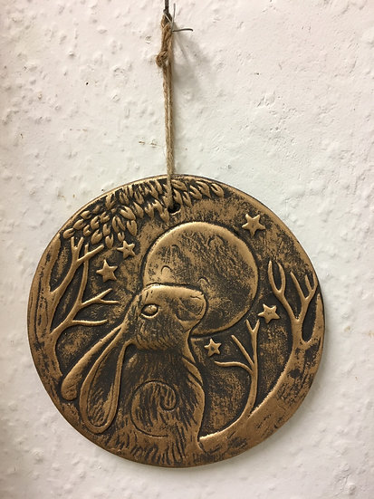 Bronze Hare Plaque