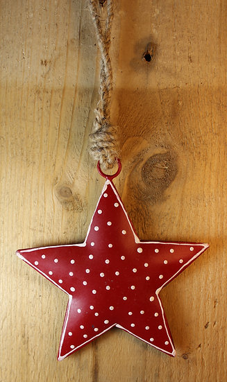 Small Red Metal Star Decoration