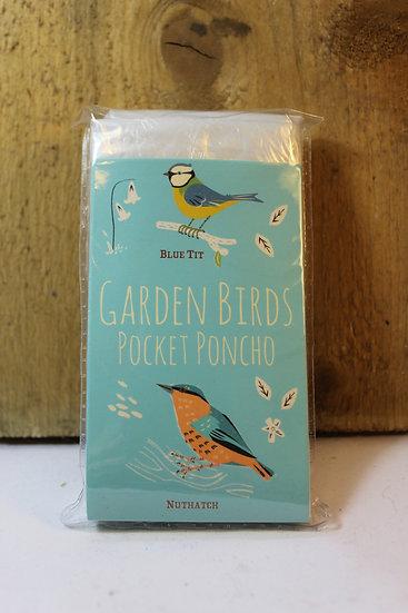 Garden Birds Pocket Poncho