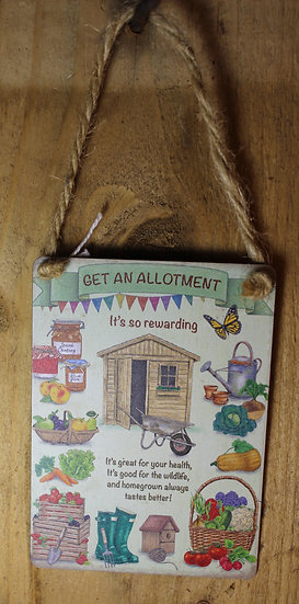 Small Metal Allotment Sign