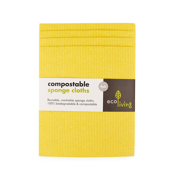 4 Pack Compostable Sponge Cleaning Cloths
