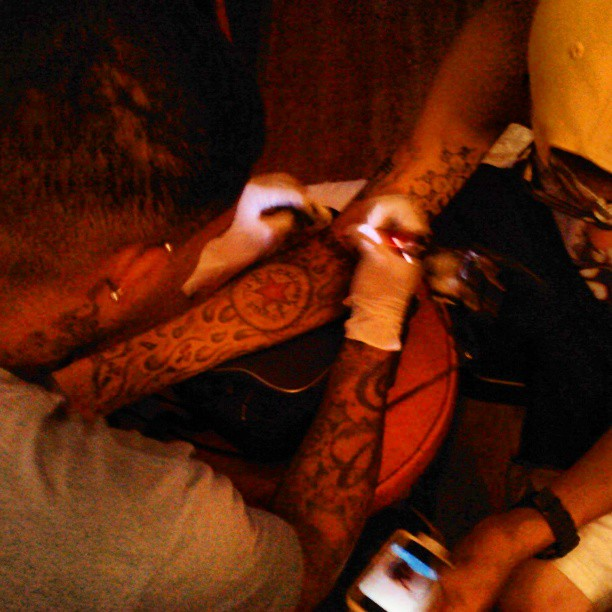 #Doctor _ work #Dayo finishing up sleeve...jpg