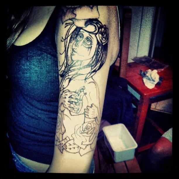 #sleeve #1st session #Progress #art #Ink #CrazyImages #Exquisite Taste _Matti
