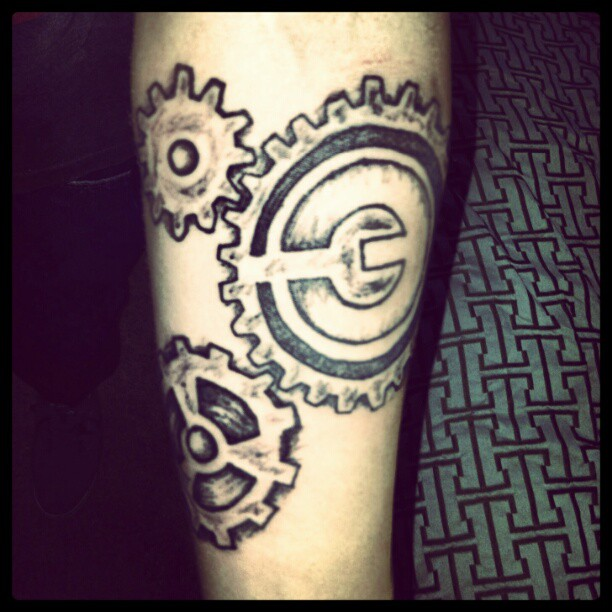 #gearing up #todays #ink