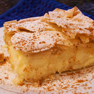 Bougatsa with filo pastry recipe