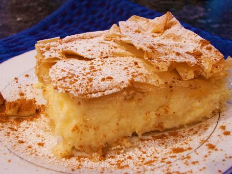 Bougatsa with filo pastry recipe