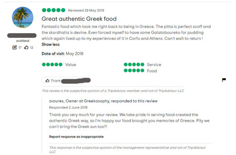 Great authentic Greek food