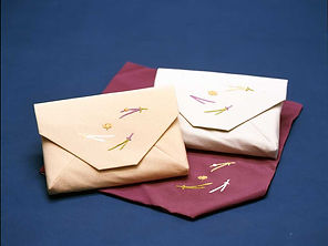 長艸,日本刺繍,数寄屋袋